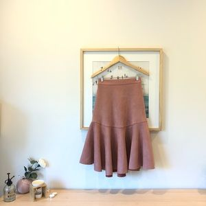 Dresses & Skirts - Sueded dusty pink midi skirts